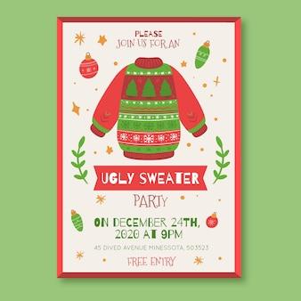 Modelo de convite para festa de suéter feio