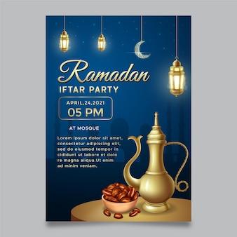 Modelo de convite para festa iftar