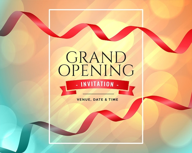 Modelo de convite para inauguração da grande inauguração