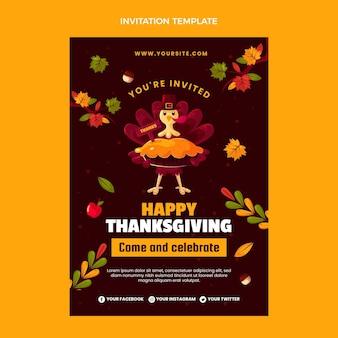Modelo de convite plano de ação de graças