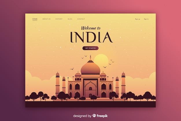 Modelo de convite turístico para a índia