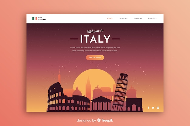 Modelo de convite turístico para itália