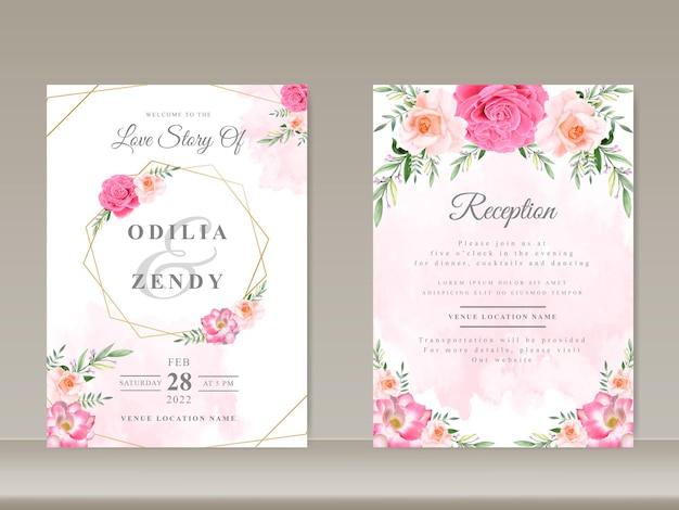 Modelo de convites de casamento com lindos temas de flores