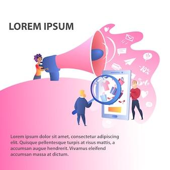 Modelo de cor do site de marketing digital