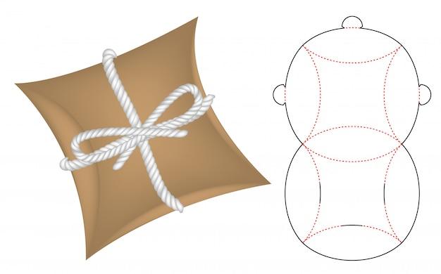 Modelo de cortador de caixa de pacote de travesseiro