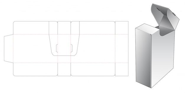 Modelo de corte de caixa de cigarros