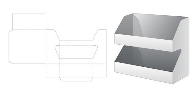 Modelo de corte e vinco de 2 camadas