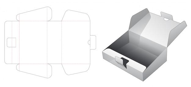 Modelo de corte e vinco de caixa de bolo de papelão