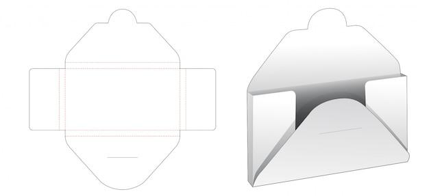 Modelo de corte e vinco de caixa de cartas de papelão