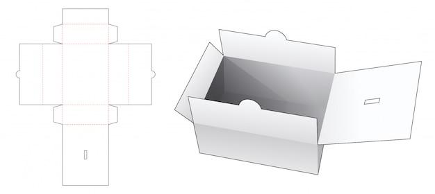 Modelo de corte e vinco de caixa de documento