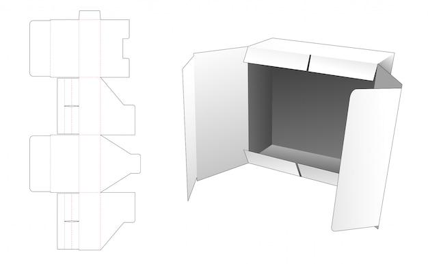 Modelo de corte e vinco de caixa de embalagem de aba