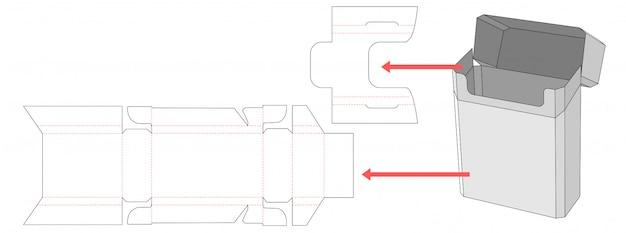 Modelo de corte e vinco de caixa de embalagem de cigarro