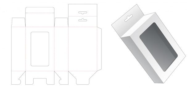 Modelo de corte e vinco de caixa de embalagem de suspensão