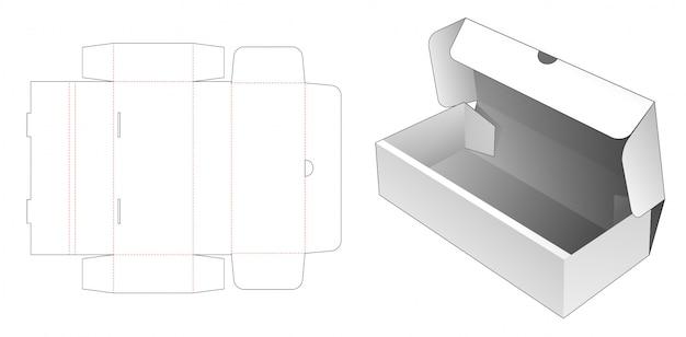 Modelo de corte e vinco de caixa de padaria flip