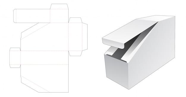 Modelo de corte e vinco de caixa de papelão exclusivo