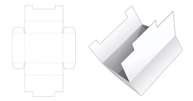 Modelo de corte e vinco de caixa de papelão