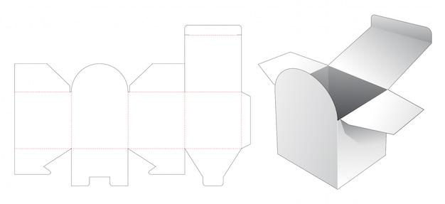 Modelo de corte e vinco de caixa quadrada de cosméticos