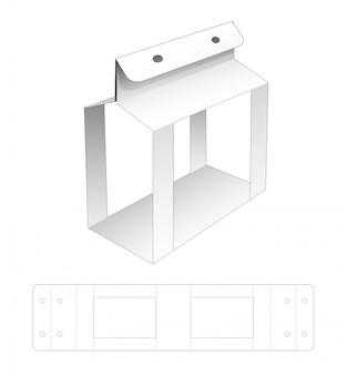 Modelo de corte e vinco de capa de papelão