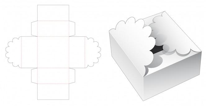 Modelo de corte e vinco de embalagem de caixa de presente