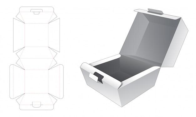 Modelo de corte e vinco de embalagem de caixa de recipiente de alimento
