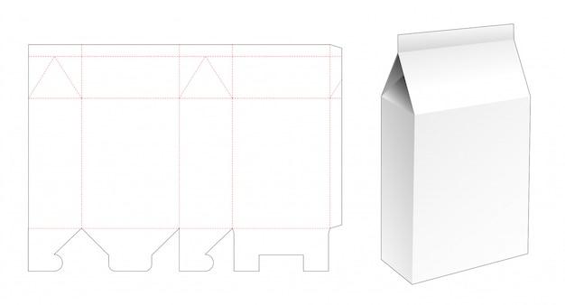 Modelo de corte e vinco de embalagem de sabão em pó