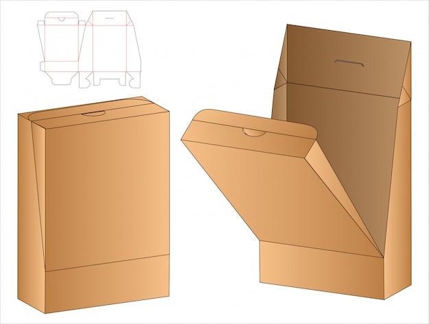 Modelo de corte e vinco de embalagens de caixa