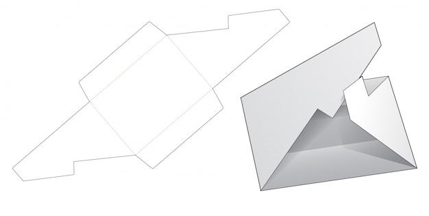 Modelo de corte e vinco de envelope