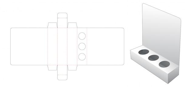 Modelo de corte e vinco de exibição de suporte de produto