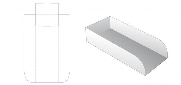 Modelo de corte e vinco de recipiente de pão