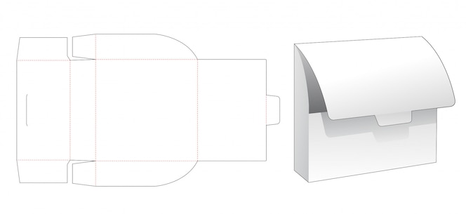 Modelo de corte e vinco de saco de armazenamento de papelão