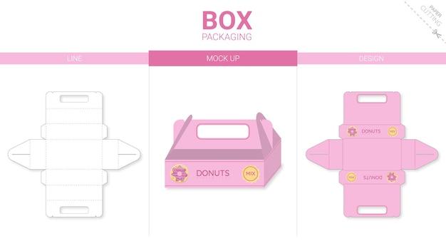 Modelo de corte e vinco para embalagem de caixa