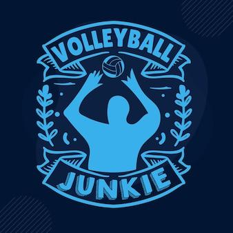 Modelo de cotação para viciado em voleibol tipografia premium vector design