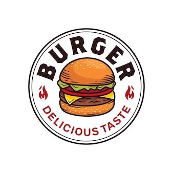 Modelo de crachá de hambúrguer