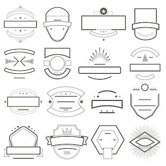 Modelo de crachás e emblemas para logotipo