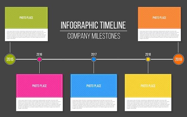 Modelo de cronograma de etapas de empresa infográfico.