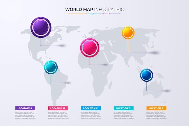Modelo de cronograma de infográficos marco ou conceito de diagrama de processo