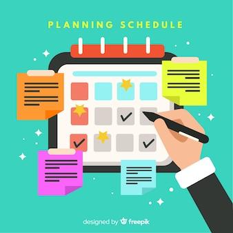 Modelo de cronograma de planejamento moderno