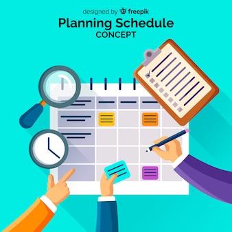 Modelo de cronograma de planejamento