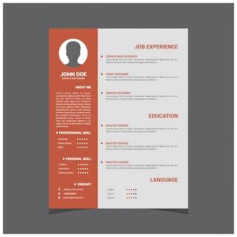 Modelo de currículo de negócios
