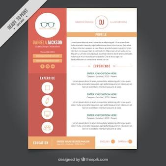 Modelo de currículo design gráfico