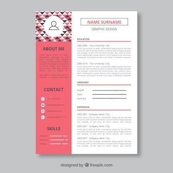 Modelo de currículo do designer gráfico
