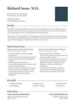 Modelo de currículo editável em design limpo com foto