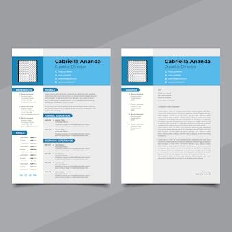 Modelo de currículo moderno para quaisquer finalidades de currículo