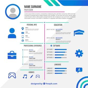 Modelo de currículo online atraente