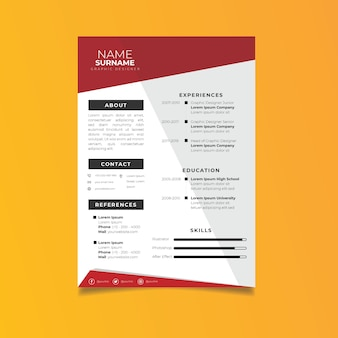 Modelo de currículo profissional estilo minimalista.