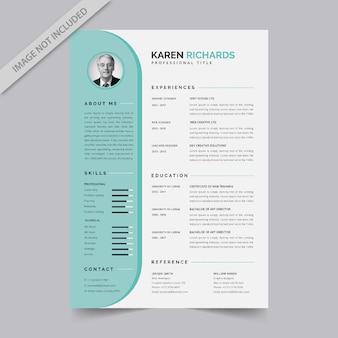 Modelo de currículo profissional plano