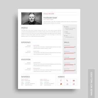 Modelo de currículo visual