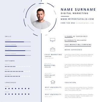 Modelo de curriculum vitae em papelada on-line