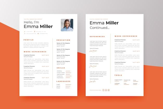 Modelo de curriculum vitae minimalista