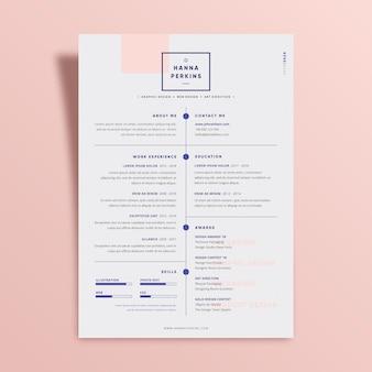 Modelo de cv minimalista